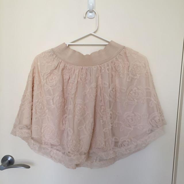 White Frilly skirt