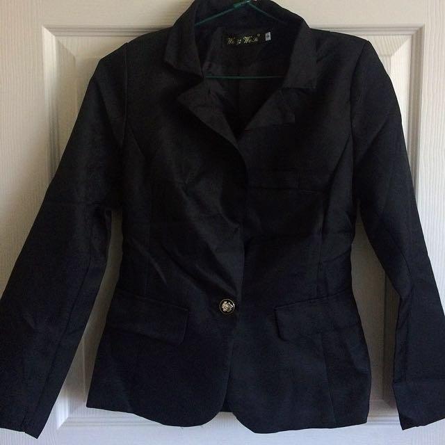 Women's Slim Blazer With Button