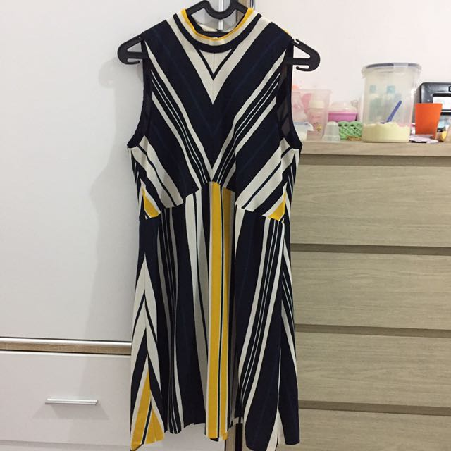 Zara strip dress