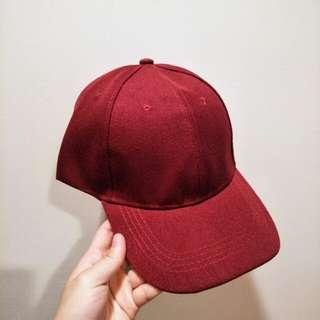 素色帽(酒紅)