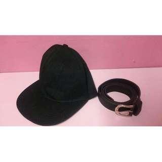 街頭板帽、寬腰帶
