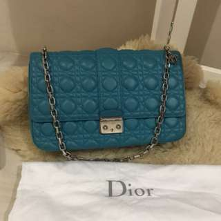 Authentic Miss Dior 30 cm Blue Lamb SHW