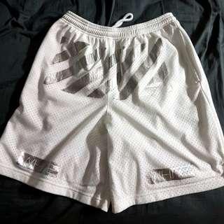 Off White Virgil Abloh White/Silver Shorts