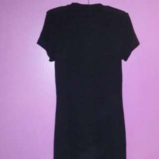 Black Cut Out Dress L