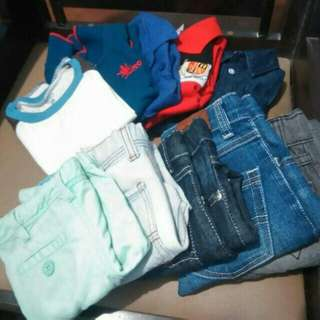Pre-loved clothes for boys ages 2 to 3 (H&M, Baby Jordan, Gingersnaps, Moose Gear, Carter)