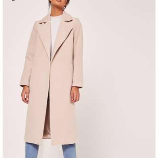 Missguided Faux Wool Duster Coat