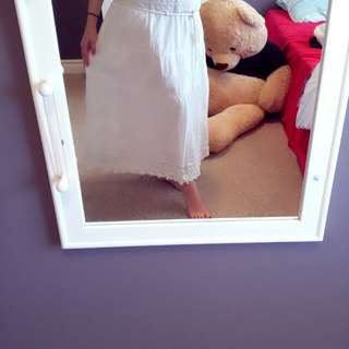 Crochet off-white skirt