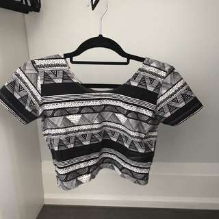 American Apparel Print Top
