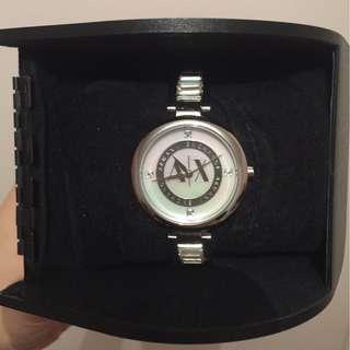 Armani Exchange Julietta Crystallised Steel Crystal Strap Watch Womens