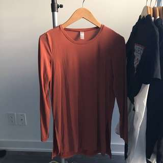 SMALL AMERICAN APPAREL BRUSHED JERSEY SLITS ON EACH SIDE