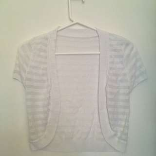 White see-through small cardigan/shrug