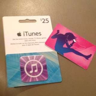 $25 iTunes Gift Cards