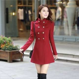 Burgundy winter stylish coat