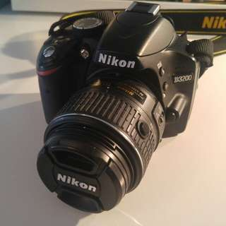 Nikon D3200 with Camera Bag, Cables, & More!