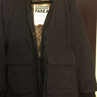 Garage snow parka