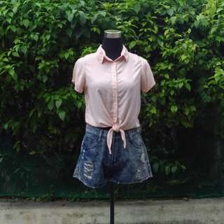 Collared Crop Tops