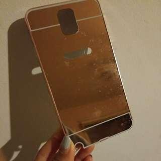 Samsung Galaxy Note 3 Metal Bumper Rose Gold Mirror Case