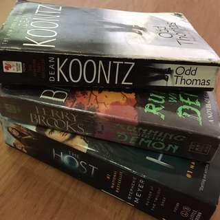Novels: Odd Thomas, The Host, Running With The Demon