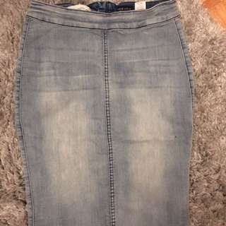Blue denim Skirt Size Small