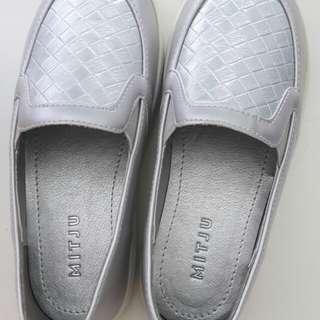 Mitju Silver Patterned Kids Shoes