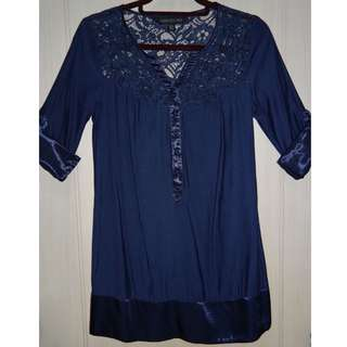 FOREVER NEW Navy Blue Dress Size 32