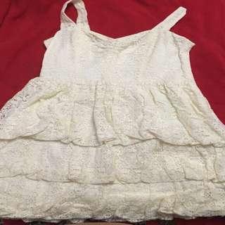 Creme colour Guess dress size 3