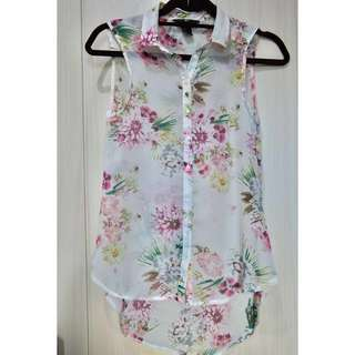 H&M Floral Sleeveless Top Size 32
