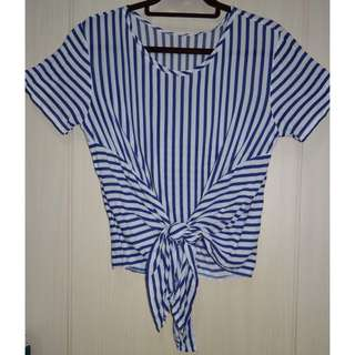 Blue-white Stripes Blouse