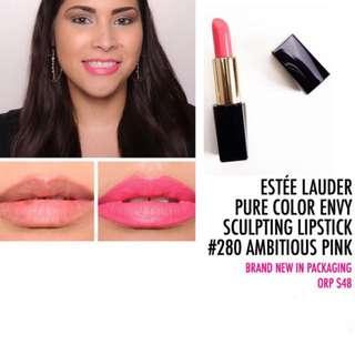 Estée Lauder Pure Color Envy Sculpting Lipstick #280 Ambitious Pink
