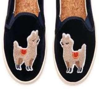 Soludos Velvet Llama Sneakers