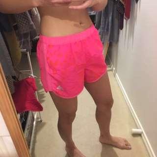 ADIDAS pink leopard print gym shorts XS