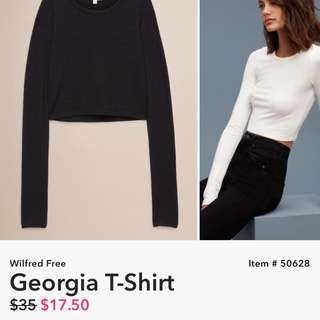 Aritzia Wilfred Georgia Shirt
