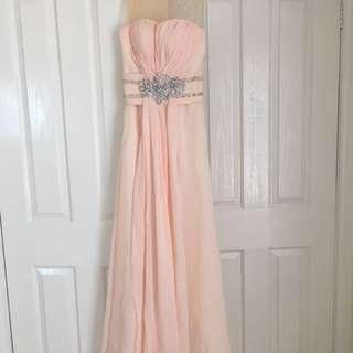 Custom made peach formal dress size XS/6