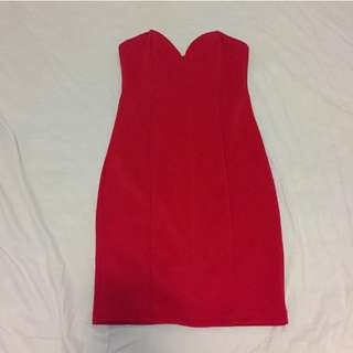 Supre Red Strapless Dress