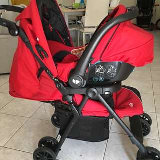 Joie Aire Step LX Travel System Stroller (Red)