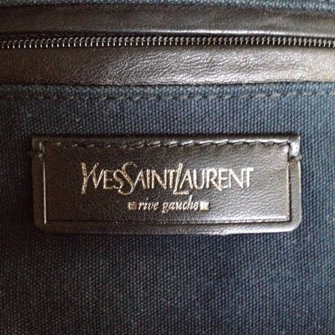 100% YSL Metallic Bronze Leather Signature Y EASY Kylie Minogue Celebrity Bag