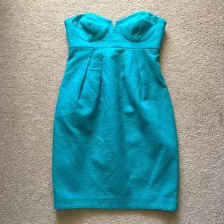 ASOS teal tube dress