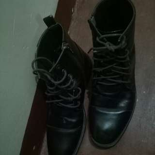 Melanos mens leather boots