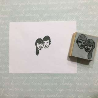 Handmade Customised Carved Stamp