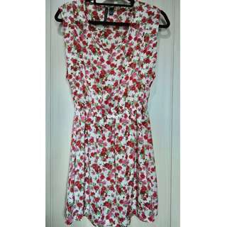 MANGO Floral Dress Size XS