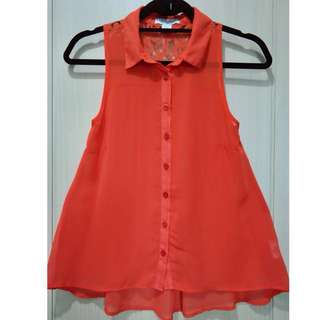 Cotton On Sleeveless Orange Top Size XXS