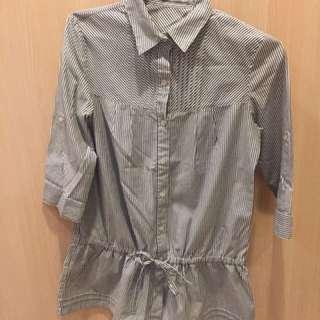epanouir 條紋襯衫傘裙