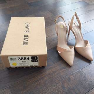 Preloved Nude Heels RIVER ISLAND