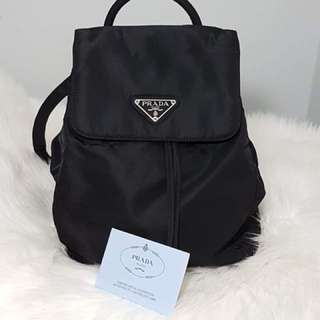 Authentic PRADA nylon Bagpack w/ authenticity card