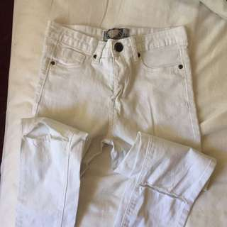 Ripped White Skinny Jeans