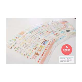 clearance 6 sheets rainbow market stickers for $2.30 NETT (POSTAGE INCLUDED)
