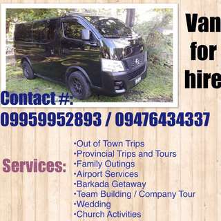 Van for rent (with driver)