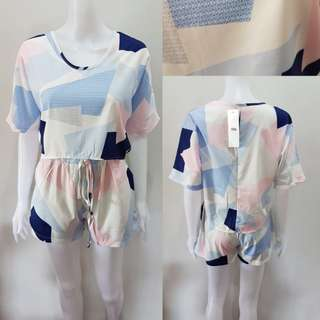 bnwt top and shorts terno or coordinates