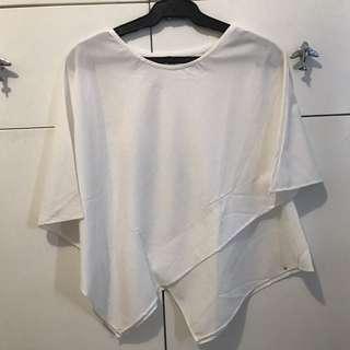White Assymetrical Top