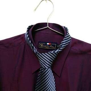 全新免運范倫鐵諾路迪長袖襯衫送領帶